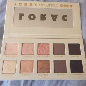 Lorac Gold  Unzipped Eye Shadow Palette